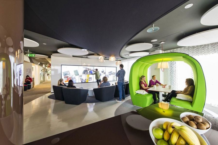 the google office. Interiors-of-the-Google-Dublin-Campus The Google Office A