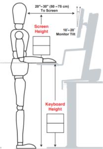 medidas antropométricas para trabalhar em pé em mesa para home office