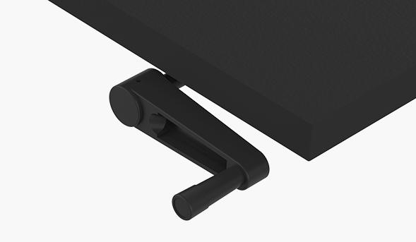mesa com regulagem de altura manual
