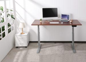 Mesa para escritório SlikDesk High Estrutura Cinza