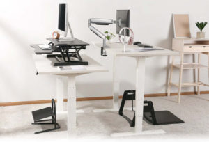Mesas para escritório SlikDesk High ambientada 5
