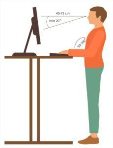 Postura ilustração vetor