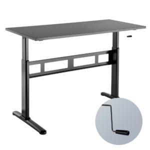 Slikdesk Lightway é uma mesa com regulagem de altura manual